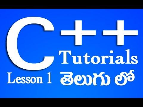C++ Tutorials in Telugu – Lesson 1   Video