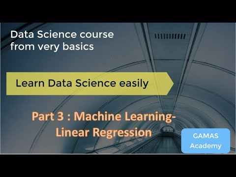 Data Science Tutorials | Part 3 Session 3 |  Linear Regression in Excel | Video