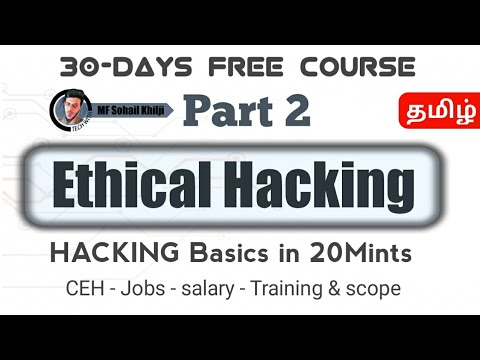 Ethical Hacking Basics in Tamil -15Mints || PART 2 || Job, Pay,Training&Scope | Tamil Tech With MF | Video