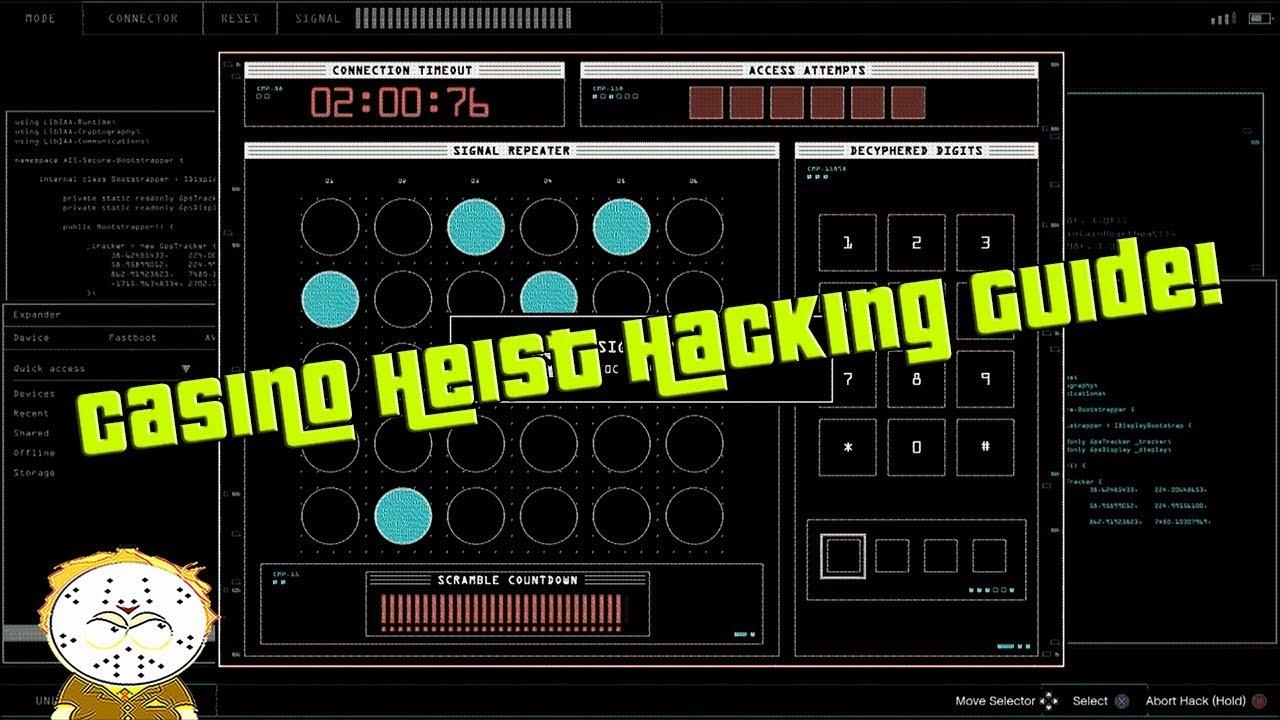 GTA Online Diamond Casino Heist Keypad And Fingerprint Hacking Guide | Video