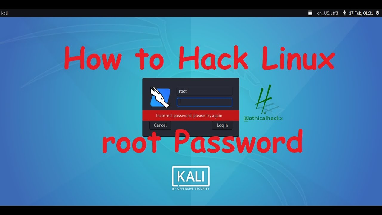 How to Hack Linux root Password (Part -1) – Ethical Hacking Tutorials   Video
