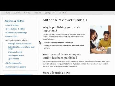 Scientific Writing Basics: Free Springer Author Tutorials | Video