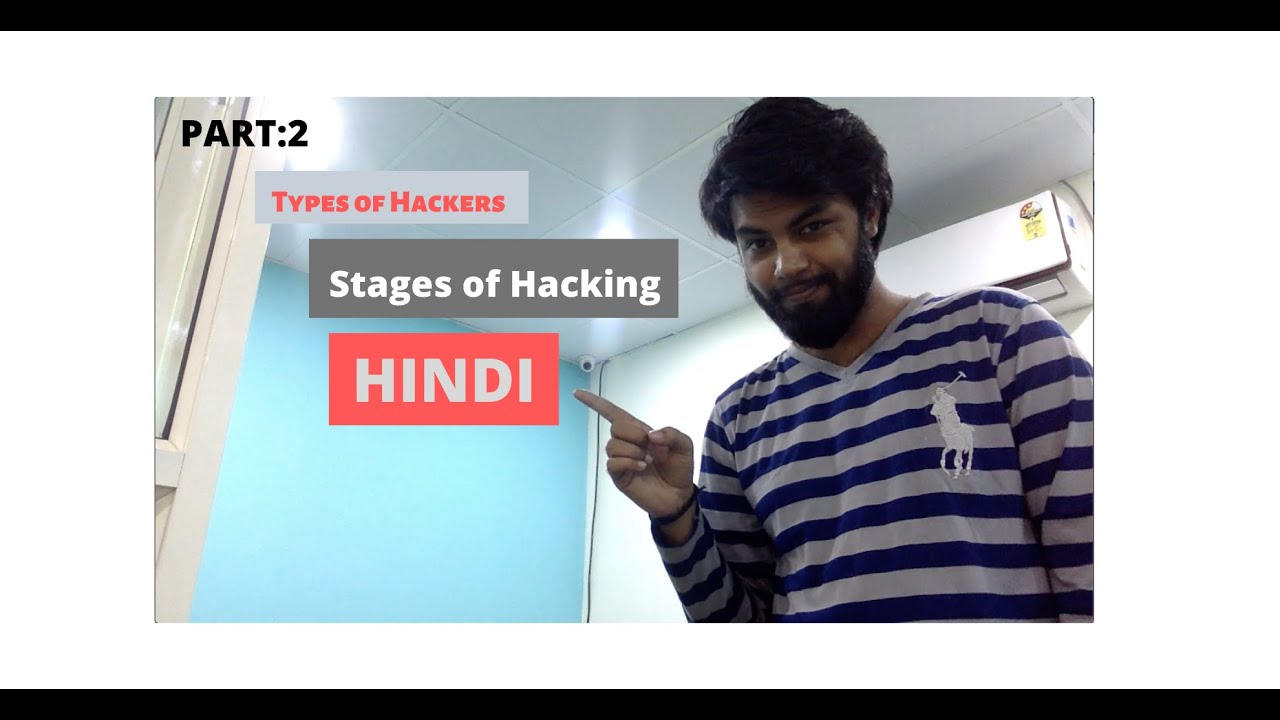 Types of Hackers, Different stages of hacking  Ethical Hacking course in Hindi Manish Bhardwaj   Video